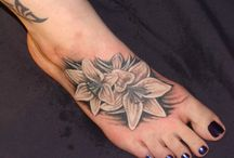 Flower Tattoos for Foot