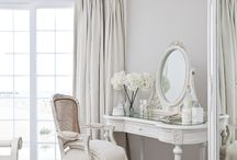 White shabby bedroom / by Kim Cook