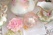 Tea Time / Tea sets, bone China,  vintage, chintz, tea parties, tea quotes, high tea, tea cups, saucers, tea pots