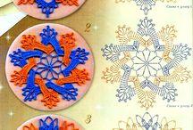 Двухцветные вязание мотивы