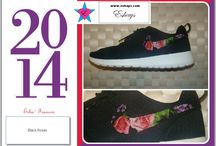Floral Nike Roshes / Nike has come out with a great comfortable shoe called Nike Roshe Run. As a shoe customizer we love Roshes and can place almost any print on them. This is a collection of Floral  Nike Roshes. Get a pair  for Women, Men and Kids on Sale at Eshays.
