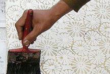 Batik-silk painting