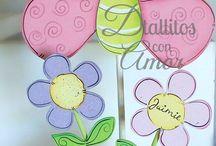 Centros de mesa con flores y mariposas