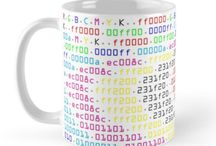 Coding Cups / These are word art coffee cups I have designed. They are available on my Redbubble site: www.redbubble.com/people/richandersonart