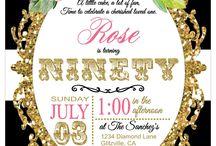 90th Birthday Party (Rose) / she's a classy lady, and what could be more classy than crisp sharp colors like black, white and pink. / by Vickie List