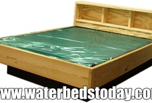 NATURAL WOOD BOOKCASE WATERBED II