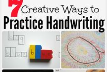 Handwriting Fun / Ideas, printables and resources to help with handwriting