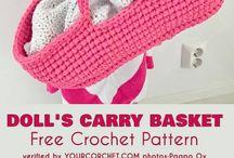 crochet dolly basket