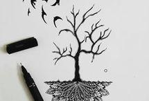 dibujos a lápiz y a blanco y negro