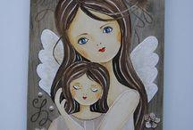 angeles pintados