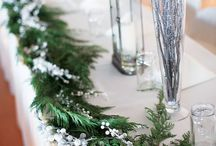 Winter Weddings /  Baby it's Cold Outside... Winter wedding themes, ideas, decor, cakes, food, flowers, and attire