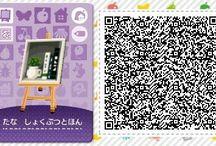 ʕ´•㉨•`ʔ animal crossing new leaf - qr codes - accessories