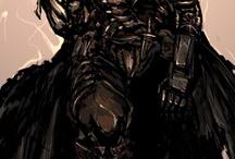 Black swordman