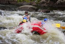Summertime Whitewater | Adirondac Rafting Company / Whitewater rafting through the Hudson River Gorge in the heart of New York's Adirondack Mountains.  Near Lake Placid and Lake George.  Summertime family fun.