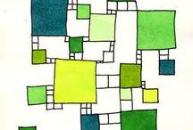 Komposition und farbe