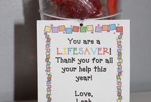 End of Year gifts for parent helpers  / Gifts