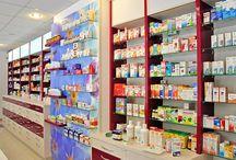 Amenajare farmacii Myosotis / 15 farmacii Myosotis amenajate cu Accesoria Pharma - mobilier specializat pentru farmacii, sertare metalice Shoptec, design counter oficina.