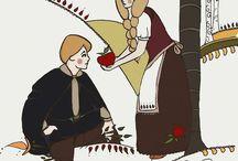 Hungarian folktale ILLUSTRATIONS