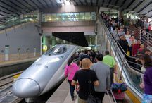 China Travel by High Speed Train / Travel in China by high speed train is more comfortable than by plane. When distance travelled is within 1,000 km, high speed train also beats planes in efficiency. Train travel allows the passenger to see the country up close and mingle with locals more easily.