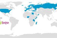 Country's we visit / Landen die wij hebben mogen bezoeken.