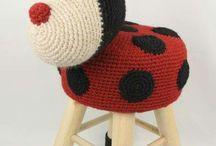 Animal crochet wooden chairs
