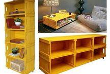 móveis de caixotes