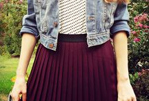 pleated burgundy