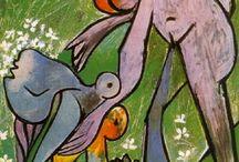 konst / konst av olika konstnärer