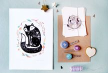 Be creative: seen on HappyMakersBlog / Be creative : mini-interviews with illustrators, crafters, designers posted on HappyMakersBlog / by Vli privé