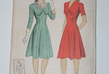 Free Vintage Sewing Patterns and Tutorials / Vintage clothes to Sew: Free sewing patterns and DIY tutorials for vintage clothing and retro clothes (dresses, tuni cs, tops, shirts, jackets, coats, skirts, pants, etc)