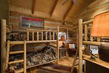 Children Areas- Honest Abe Log Homes / This board is about children related Areas, bedrooms, and rooms located in log cabin or log homes, especially decor and design from Honest Abe Log Homes..