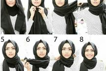 Modest / Modest head scarf style and tutorial