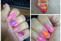 My stuff #ionanaildit / Nail art created by me on my journey to becoming a nail tech/beautician