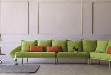 salotto divano verde