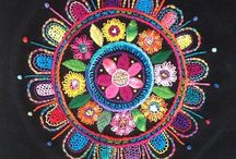 Mandala embroidery