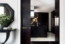 Project: Cheshire Country Home / The owner of this early 20th century country house called upon Janine Stone Design to develop this residence. A strong reference to the unerring elegance of the 1930's and 40's strongly informed the new look. A rich palette of ebony; claret and jewel tones accented with bone and alabaster. Artisans worked on one-of-a-kind designed furniture pieces, architectural details and finishes. The result is a heady blend of the exotic and richly decadent, a breathtaking mix of modernity and classicism.