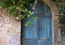 Beyond the Door / I have always LOVED doors--they mystery they hold, and the fascination of what may lie beyond the door.  I invited you to use these doors as inspiration for your writing.  What IS beyond these doors?