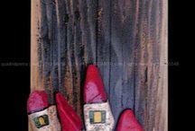 Quadri in legno e pietre