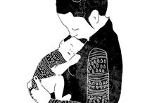 Mum and Bub art inspiration / inspirational art and imagery of mothers and babies