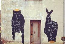 Street art, design & drawings