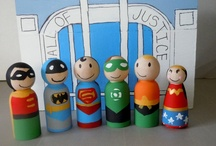 Wooden peg dolls  / by Meaghan Minor