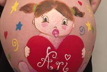Barriguitas pintadas de embarazadas