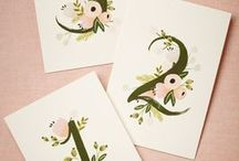 Wedding Table Numbers / From the fancy to the fun, if you're looking for wedding table numbers that will add a certain flare you'll find them right here!