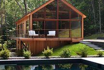 Casas- interiores e exteriores / Arquitetura e Decoração de interiores