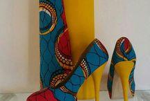 Ankara bags and shoes