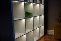 lighting a bookcase