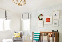 A stylish baby's room