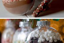 Christmas decorations with food