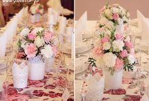 ślub różowo