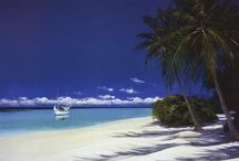 Beach Art Prints / Beach art prints help whisk you away to tropical paradise. Check out the different beach photography and paintings from all over the world!  / by Bandaged Ear